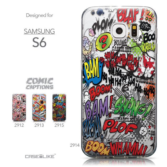 Collection - CASEiLIKE Samsung Galaxy S6 back cover Comic Captions 2914