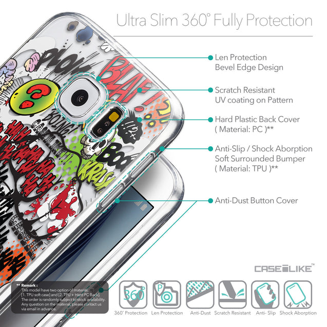 Details in English - CASEiLIKE Samsung Galaxy S6 back cover Comic Captions 2914