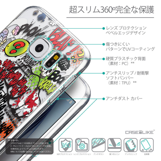Details in Japanese - CASEiLIKE Samsung Galaxy S6 back cover Comic Captions 2914