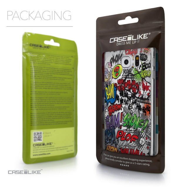 Packaging - CASEiLIKE Samsung Galaxy S6 back cover Comic Captions 2914