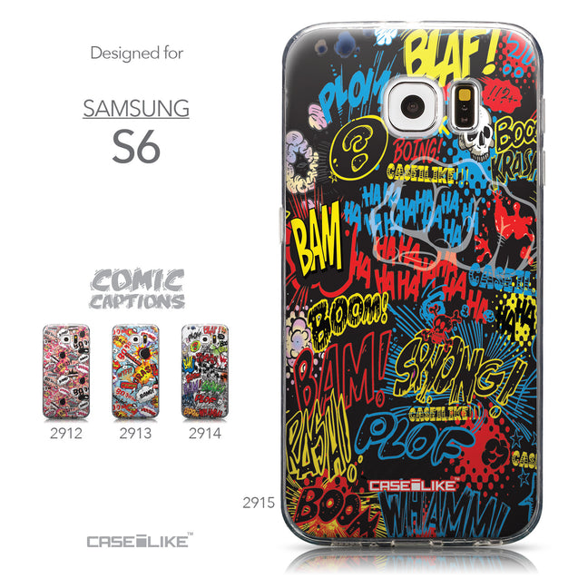 Collection - CASEiLIKE Samsung Galaxy S6 back cover Comic Captions Black 2915