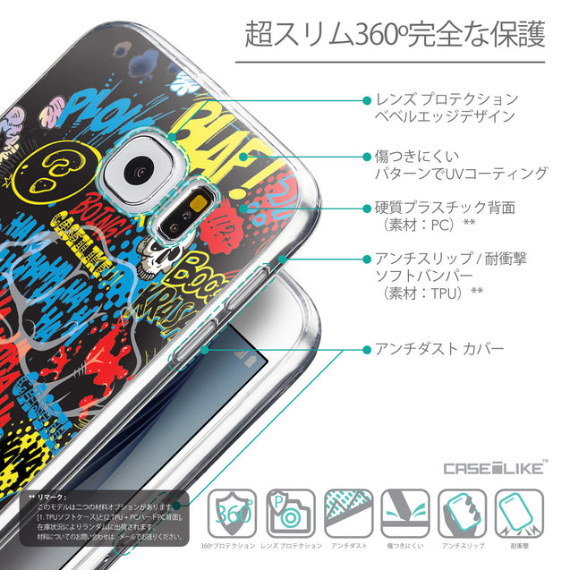 Details in Japanese - CASEiLIKE Samsung Galaxy S6 back cover Comic Captions Black 2915