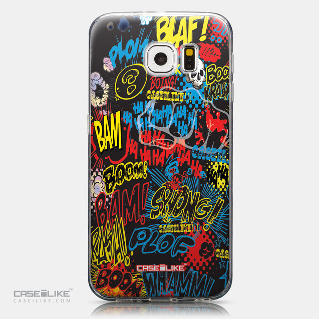 CASEiLIKE Samsung Galaxy S6 back cover Comic Captions Black 2915
