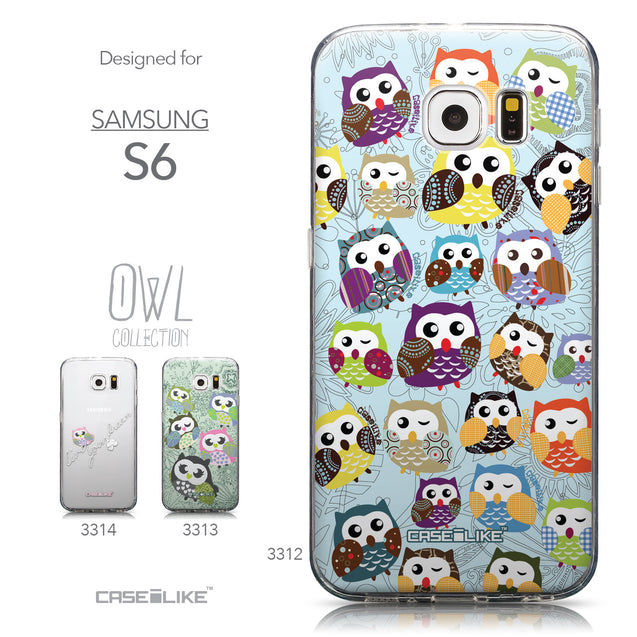 Collection - CASEiLIKE Samsung Galaxy S6 back cover Owl Graphic Design 3312
