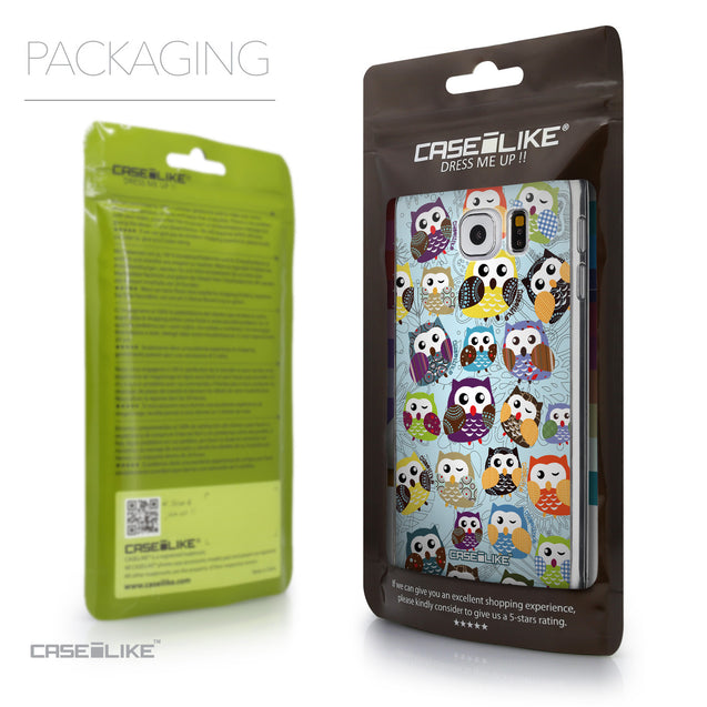 Packaging - CASEiLIKE Samsung Galaxy S6 back cover Owl Graphic Design 3312