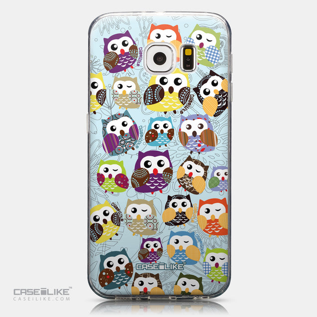 CASEiLIKE Samsung Galaxy S6 back cover Owl Graphic Design 3312