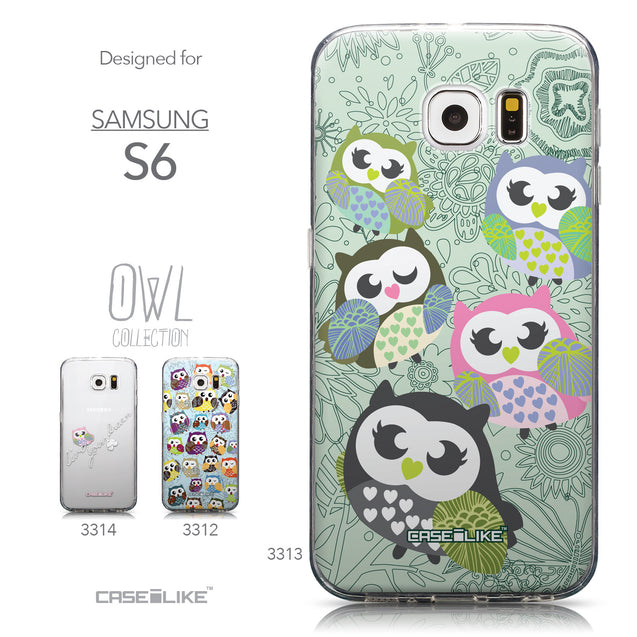 Collection - CASEiLIKE Samsung Galaxy S6 back cover Owl Graphic Design 3313