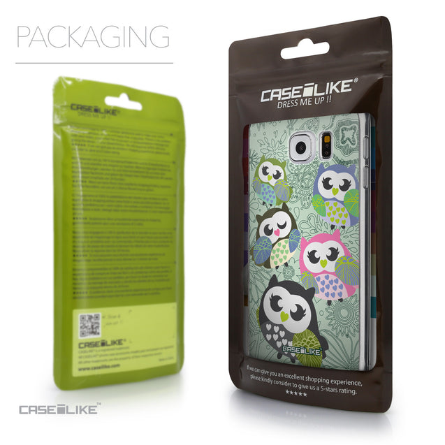 Packaging - CASEiLIKE Samsung Galaxy S6 back cover Owl Graphic Design 3313