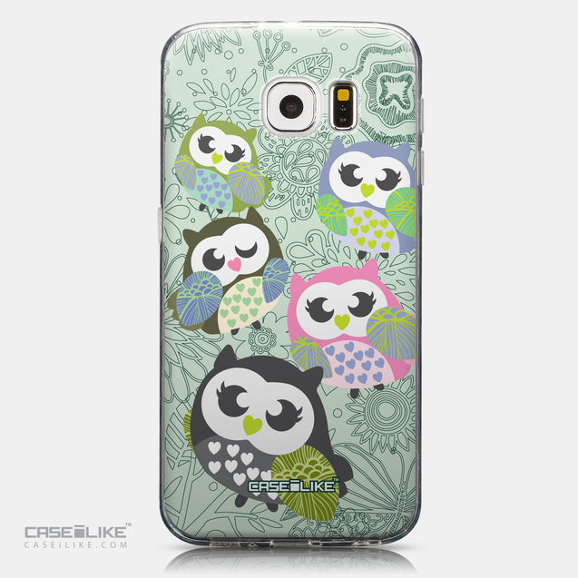 CASEiLIKE Samsung Galaxy S6 back cover Owl Graphic Design 3313