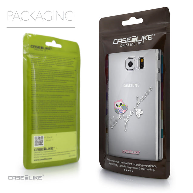 Packaging - CASEiLIKE Samsung Galaxy S6 back cover Owl Graphic Design 3314
