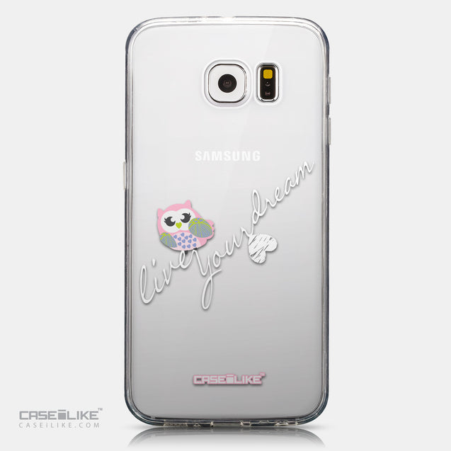 CASEiLIKE Samsung Galaxy S6 back cover Owl Graphic Design 3314