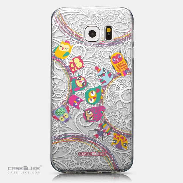 CASEiLIKE Samsung Galaxy S6 back cover Owl Graphic Design 3316