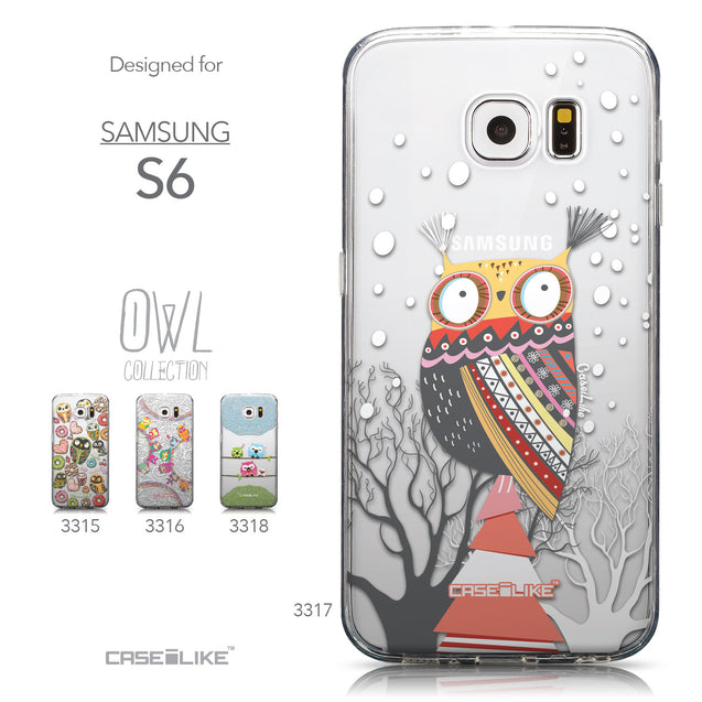 Collection - CASEiLIKE Samsung Galaxy S6 back cover Owl Graphic Design 3317