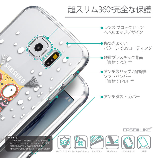 Details in Japanese - CASEiLIKE Samsung Galaxy S6 back cover Owl Graphic Design 3317