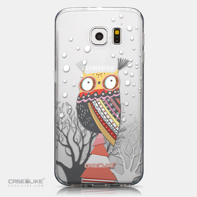 CASEiLIKE Samsung Galaxy S6 back cover Owl Graphic Design 3317