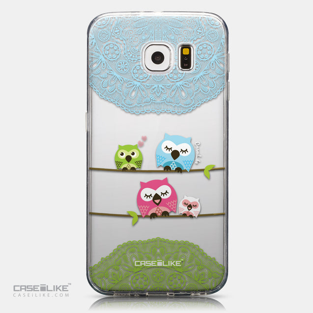 CASEiLIKE Samsung Galaxy S6 back cover Owl Graphic Design 3318