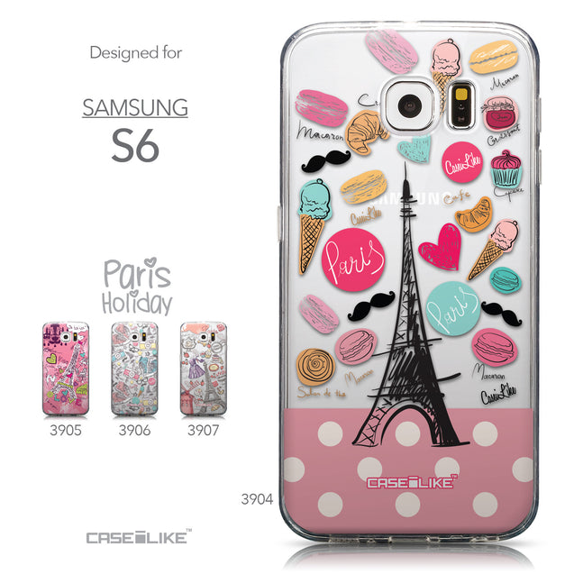 Collection - CASEiLIKE Samsung Galaxy S6 back cover Paris Holiday 3904