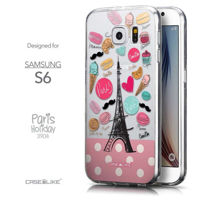 Front & Side View - CASEiLIKE Samsung Galaxy S6 back cover Paris Holiday 3904