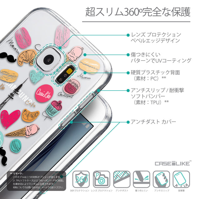 Details in Japanese - CASEiLIKE Samsung Galaxy S6 back cover Paris Holiday 3904
