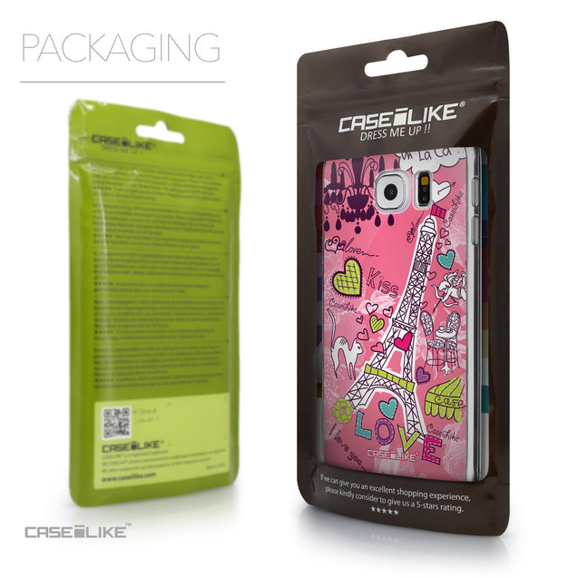 Packaging - CASEiLIKE Samsung Galaxy S6 back cover Paris Holiday 3905