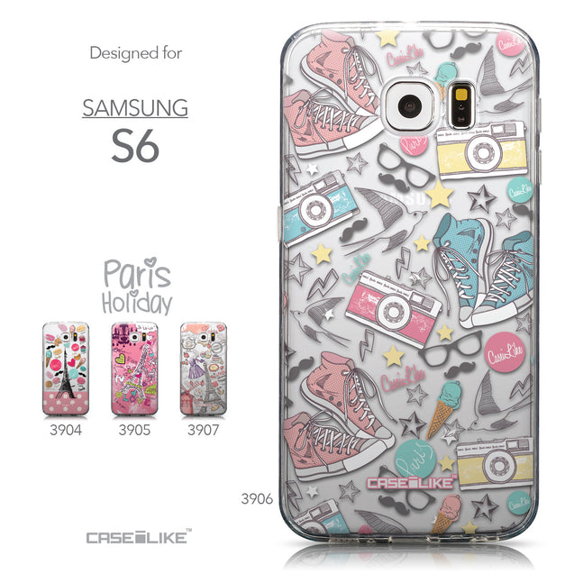 Collection - CASEiLIKE Samsung Galaxy S6 back cover Paris Holiday 3906