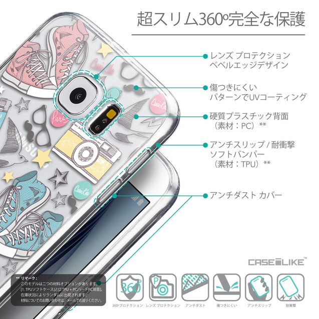 Details in Japanese - CASEiLIKE Samsung Galaxy S6 back cover Paris Holiday 3906
