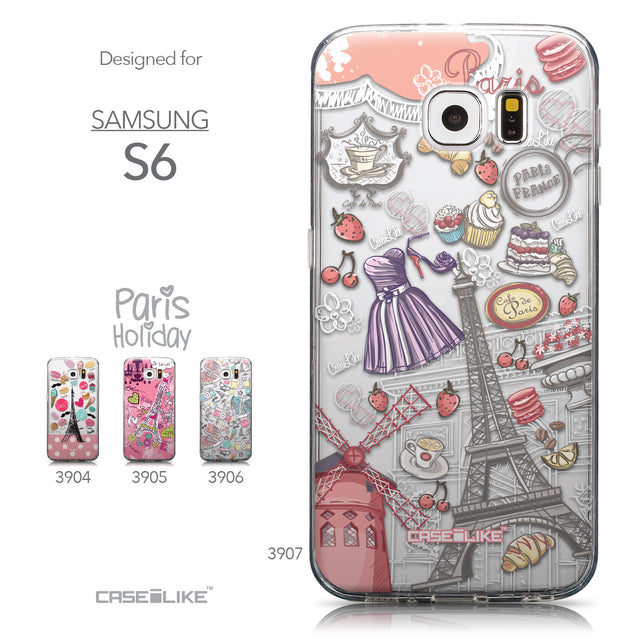 Collection - CASEiLIKE Samsung Galaxy S6 back cover Paris Holiday 3907