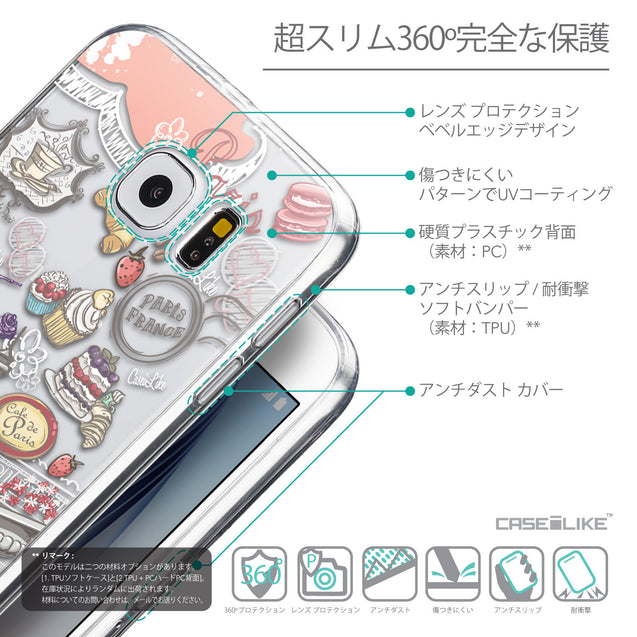 Details in Japanese - CASEiLIKE Samsung Galaxy S6 back cover Paris Holiday 3907