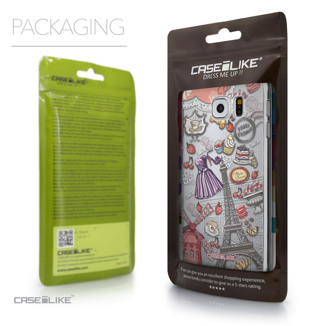 Packaging - CASEiLIKE Samsung Galaxy S6 back cover Paris Holiday 3907