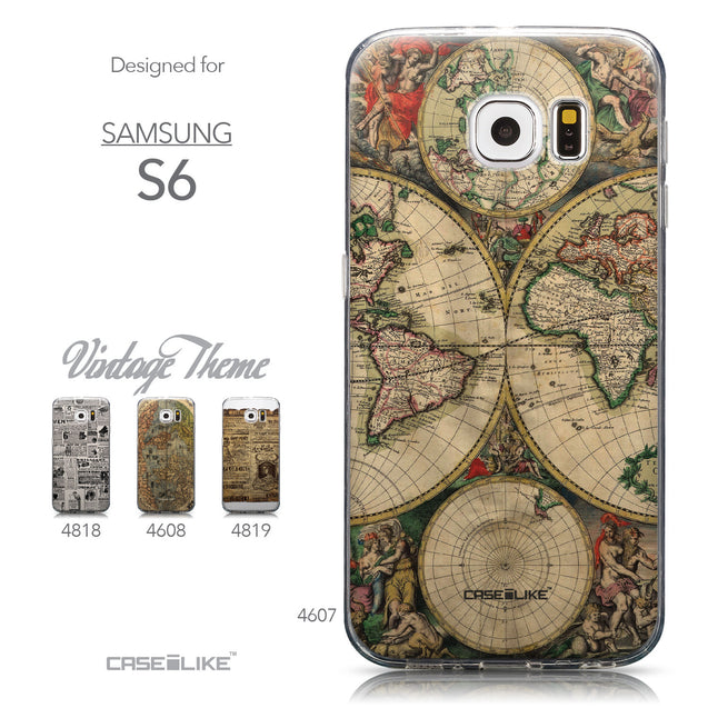 Collection - CASEiLIKE Samsung Galaxy S6 back cover World Map Vintage 4607