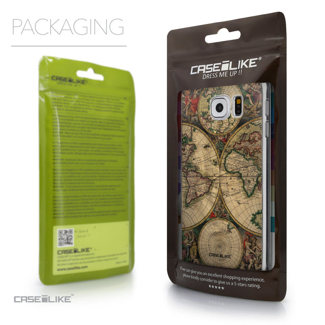Packaging - CASEiLIKE Samsung Galaxy S6 back cover World Map Vintage 4607