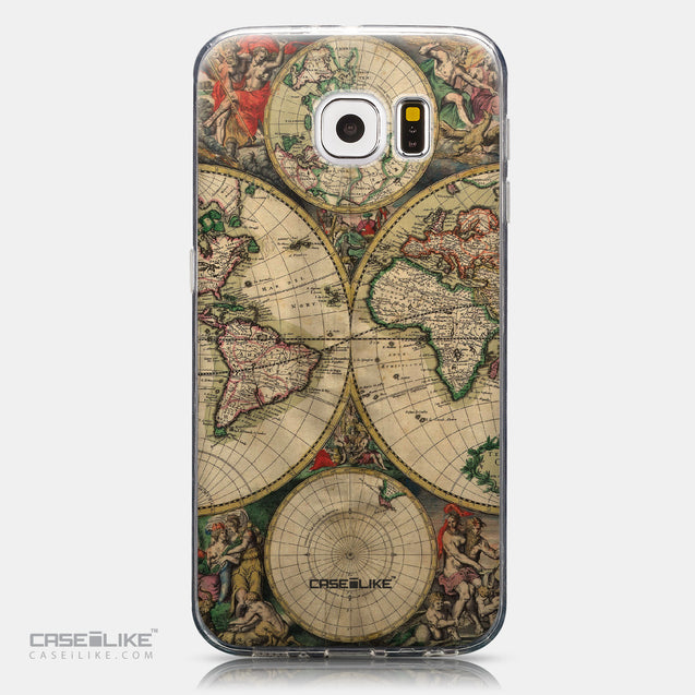 CASEiLIKE Samsung Galaxy S6 back cover World Map Vintage 4607