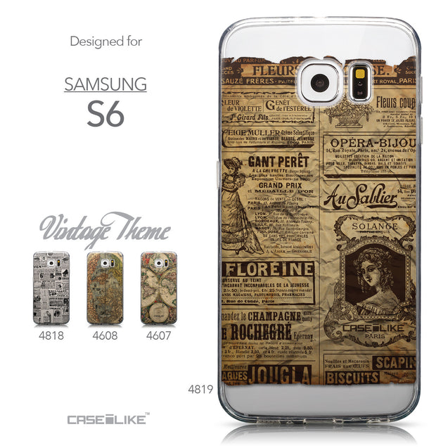Collection - CASEiLIKE Samsung Galaxy S6 back cover Vintage Newspaper Advertising 4819