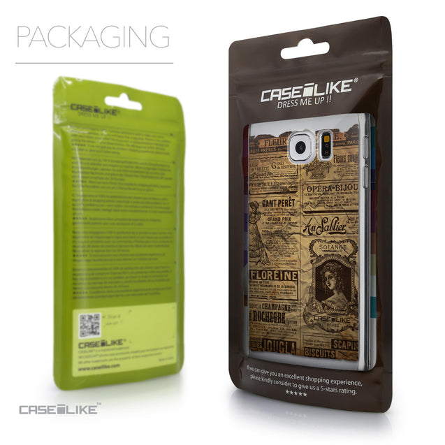 Packaging - CASEiLIKE Samsung Galaxy S6 back cover Vintage Newspaper Advertising 4819
