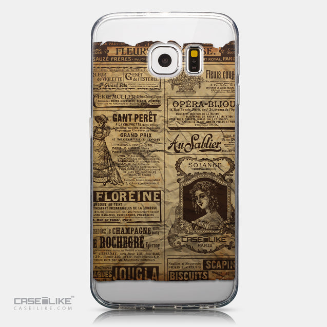 CASEiLIKE Samsung Galaxy S6 back cover Vintage Newspaper Advertising 4819