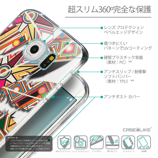 Details in Japanese - CASEiLIKE Samsung Galaxy S6 Edge back cover Indian Tribal Theme Pattern 2054