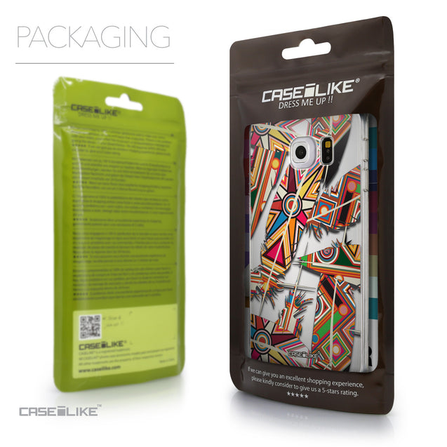 Packaging - CASEiLIKE Samsung Galaxy S6 Edge back cover Indian Tribal Theme Pattern 2054