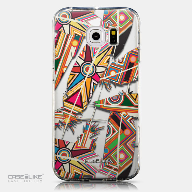 CASEiLIKE Samsung Galaxy S6 Edge back cover Indian Tribal Theme Pattern 2054