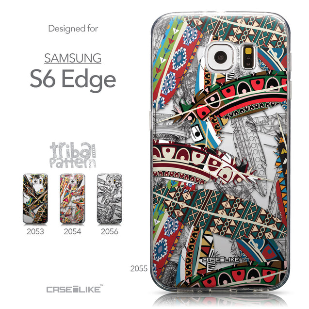 Collection - CASEiLIKE Samsung Galaxy S6 Edge back cover Indian Tribal Theme Pattern 2055