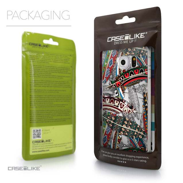 Packaging - CASEiLIKE Samsung Galaxy S6 Edge back cover Indian Tribal Theme Pattern 2055