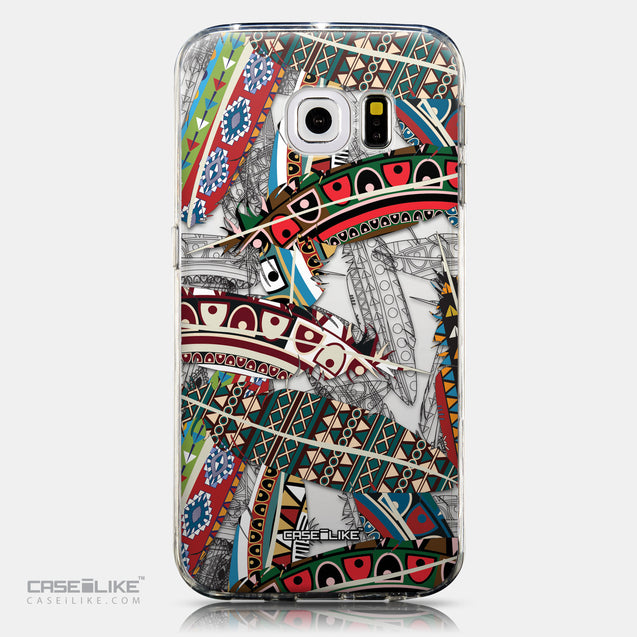 CASEiLIKE Samsung Galaxy S6 Edge back cover Indian Tribal Theme Pattern 2055