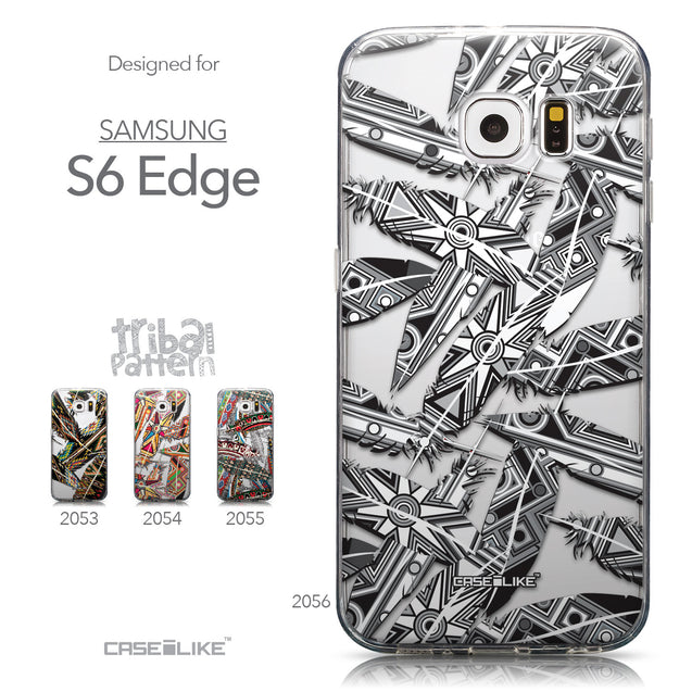 Collection - CASEiLIKE Samsung Galaxy S6 Edge back cover Indian Tribal Theme Pattern 2056