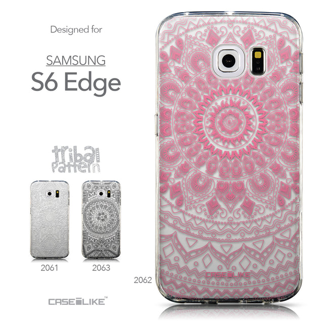 Collection - CASEiLIKE Samsung Galaxy S6 Edge back cover Indian Line Art 2062