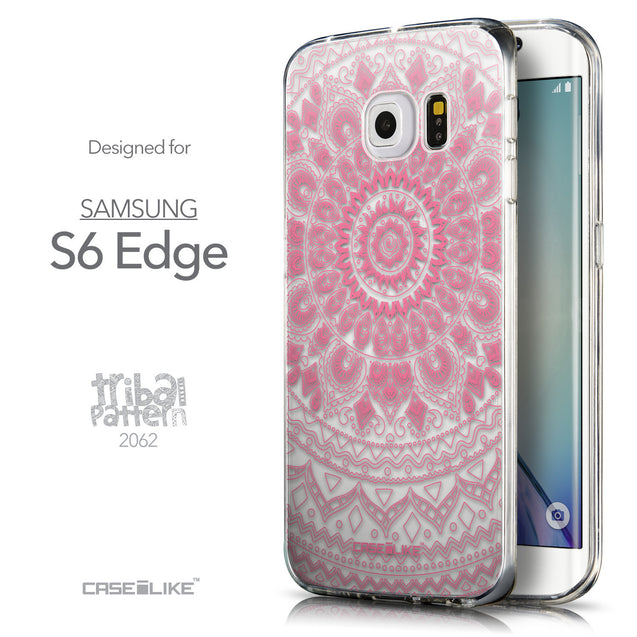 Front & Side View - CASEiLIKE Samsung Galaxy S6 Edge back cover Indian Line Art 2062