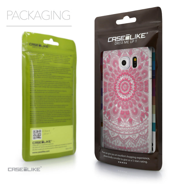 Packaging - CASEiLIKE Samsung Galaxy S6 Edge back cover Indian Line Art 2062