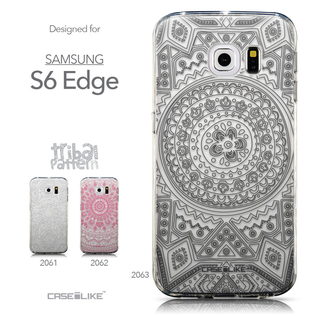 Collection - CASEiLIKE Samsung Galaxy S6 Edge back cover Indian Line Art 2063