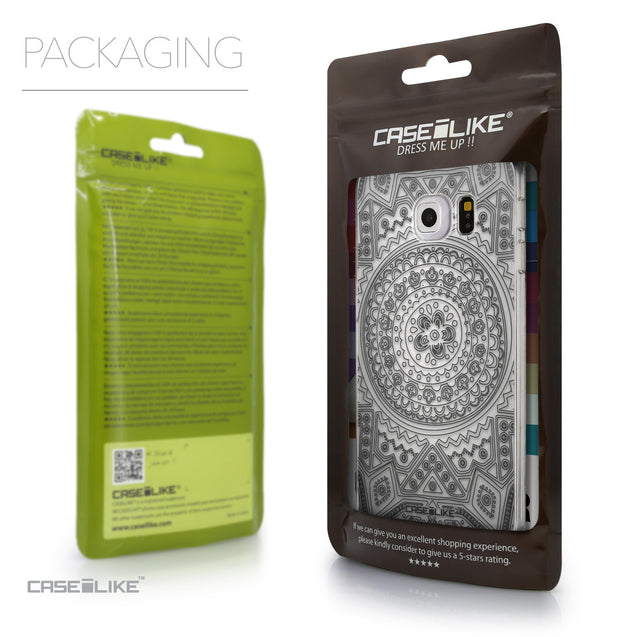 Packaging - CASEiLIKE Samsung Galaxy S6 Edge back cover Indian Line Art 2063