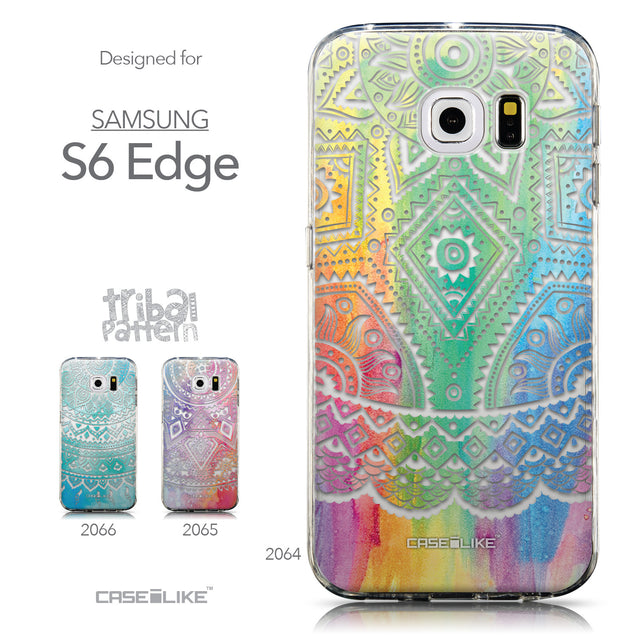 Collection - CASEiLIKE Samsung Galaxy S6 Edge back cover Indian Line Art 2064