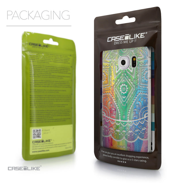 Packaging - CASEiLIKE Samsung Galaxy S6 Edge back cover Indian Line Art 2064