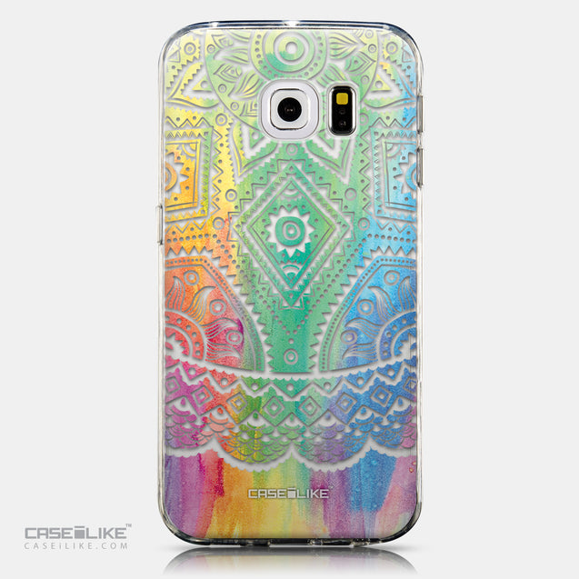 CASEiLIKE Samsung Galaxy S6 Edge back cover Indian Line Art 2064